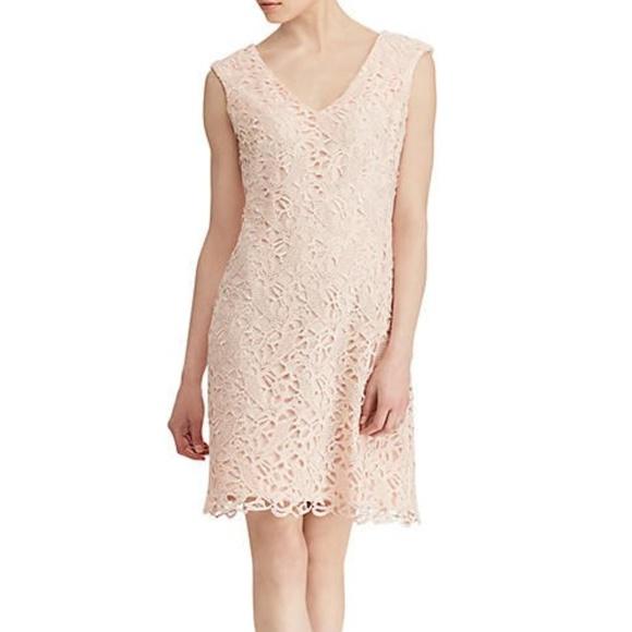 Lauren Ralph Lauren Dresses & Skirts - Lauren Ralph Lauren Pink Lace Cocktail Dress